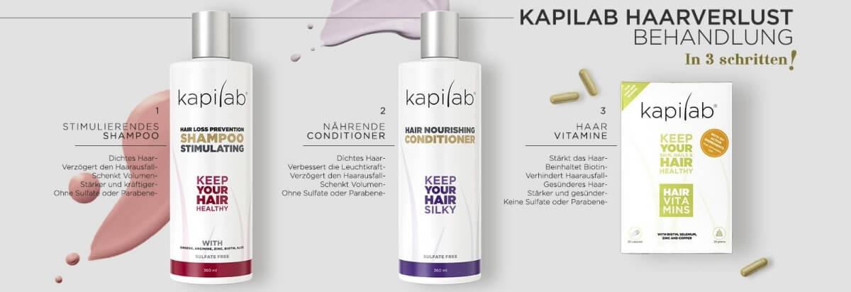 Kapilab Haarverlust Behandlung in 3 schritten!