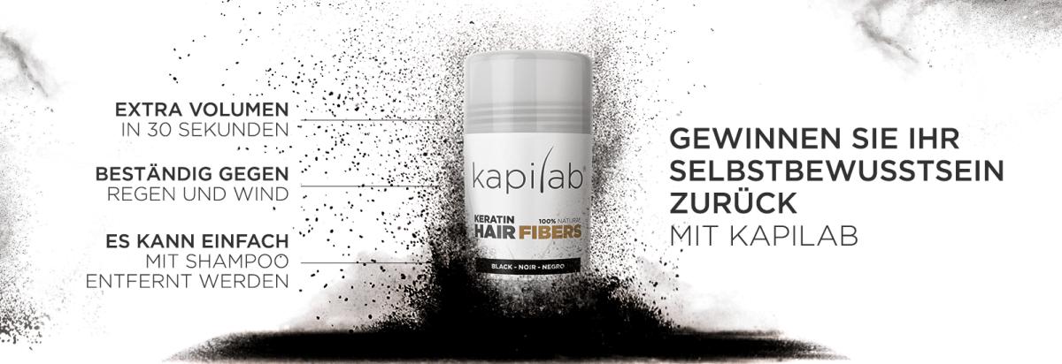 Kapilab Haarfasern, extra volumen in 30 sekunden